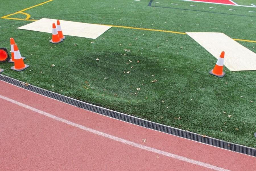 Sink hole on stadium field to be filled
