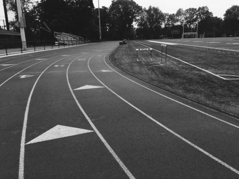 Running the track during a sporting event