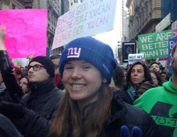 "Students protest outside Trump Tower; ""Let the New Generation Speak"""