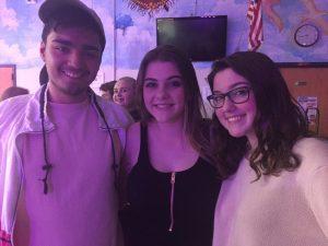 Seniors Matt Lacognata, Megan Stoddard, and Cami Kaselow were the hosts for Coffeehouse 41.