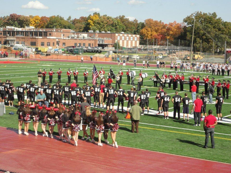 Playing on the new GRHS athletic fields, the band is as ready as ever to perform this year.  After a dazzling event last year at MetLife Stadium, the band and Color Guard look to show their spirit and skills again this year.