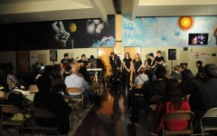 Wowing the audience, student performers impressed with their spoken word and musical ability.  Mobius, the school literary magazine, is run by Mrs. Pat Mahoney.  The Coffeehouse is an annual event (on its 17th year) that gathers some of Glen Rock's finest young performers.