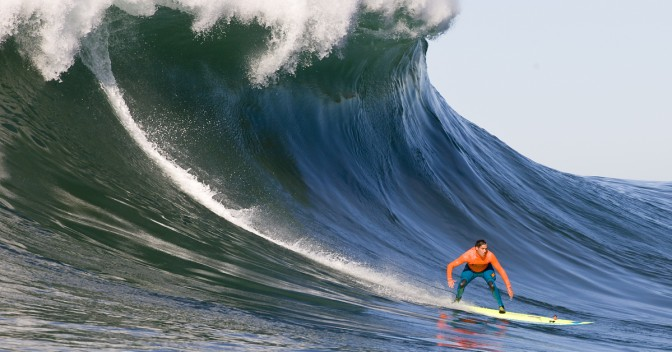Surfs up!  The BWWT's Mavericks Invitational calls on 45 ft. waves and fearless surfers.