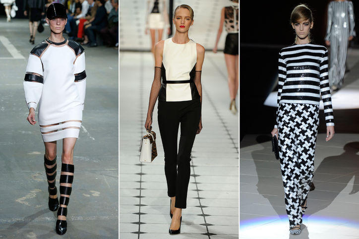 Rocking the black-and-white look, these models help gear you up for spring.