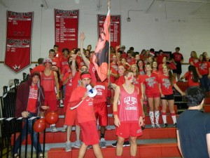 Juniors rejoice at the 2012 Pep Rally.