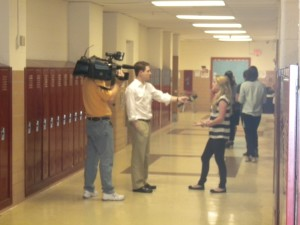 Local news station, News 12 New Jersey, was on hand interviewing GRHS students.