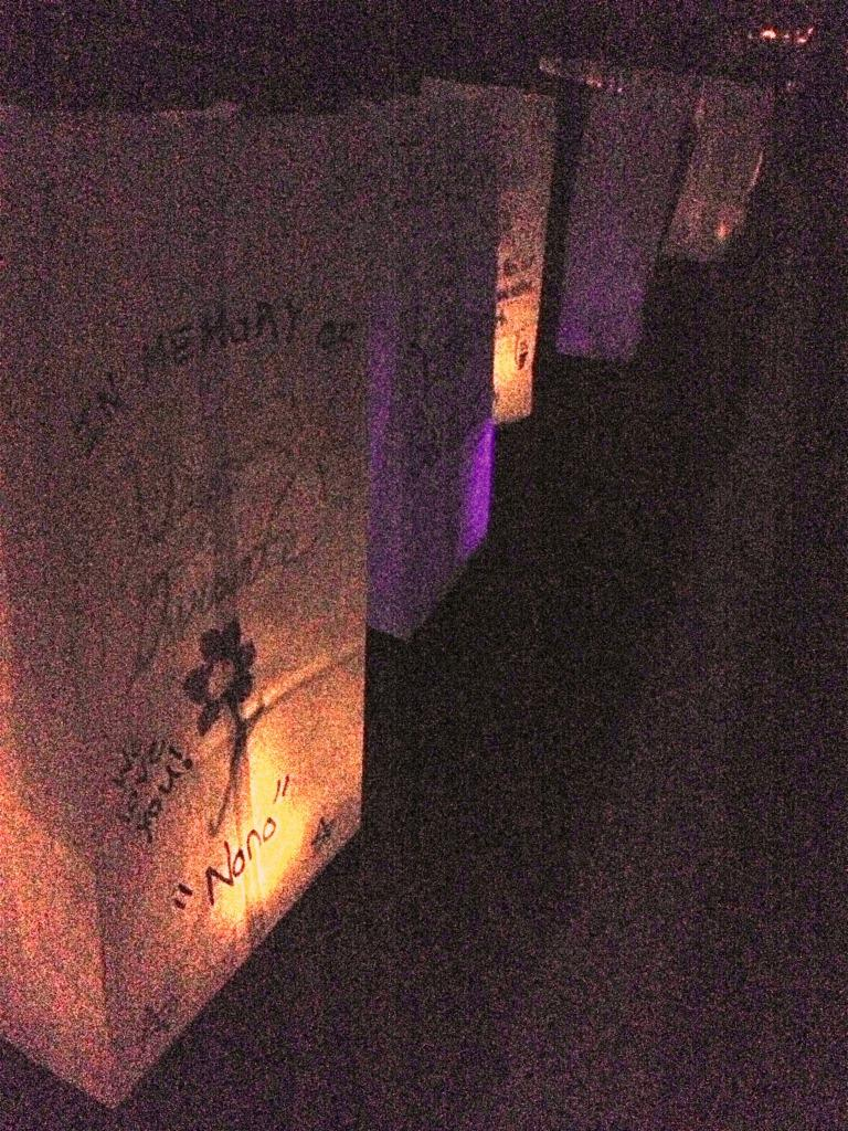 These+luminaries+were+lit+at+GRHS%27s+Relay+for+Life+in+honor+of+those+whose+lives+have+been+touched+by+cancer.+++