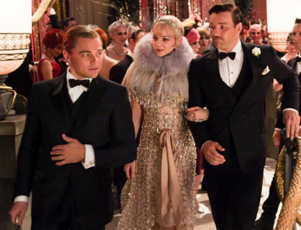 Sporting carefully designed outfits, the stars of The Great Gatsby (2013) embody the fashion of the 1920's.