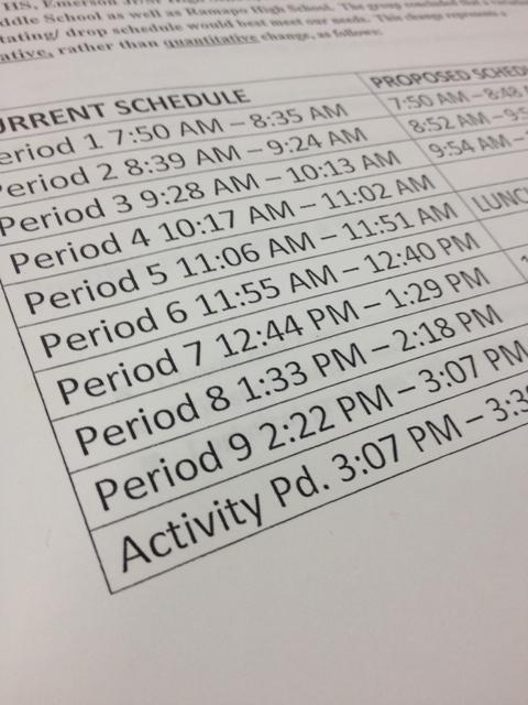 Are you ready?  New schedules may go into effect next year.