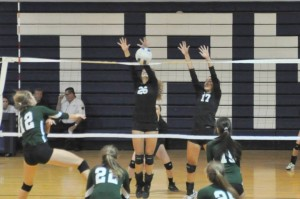 The GRHS Volleyball team looks poised to block their opponents this season.
