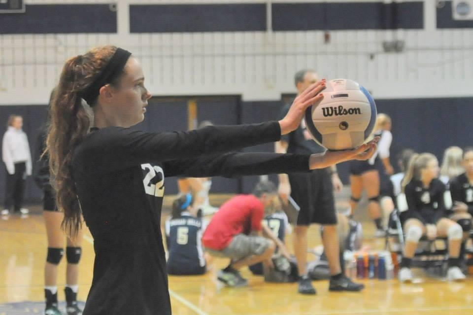Ready to serve, Sophomore Killeen McDonald appears dauntless.