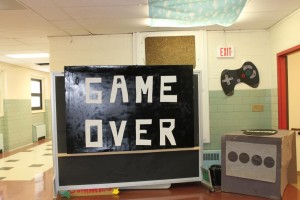 At the end of the hallway, the apropos GAME OVER sign signaled the end of the sophomore hallway.