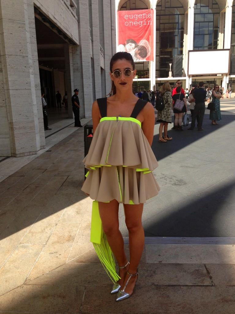 Wearing her own design, Beatriz Penalver was dressed to impress at NYC's Fashion Week.