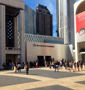 Centered at Lincoln Center, the Mercedes Benz Fashion Week brings together the up-and-coming fashions and designers of the year.