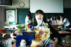 A girl's birthday at Ewha HS.