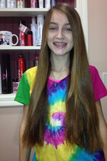 Helping charity with her donation, Michela Mountain wanted to give cheer to others this holiday season.