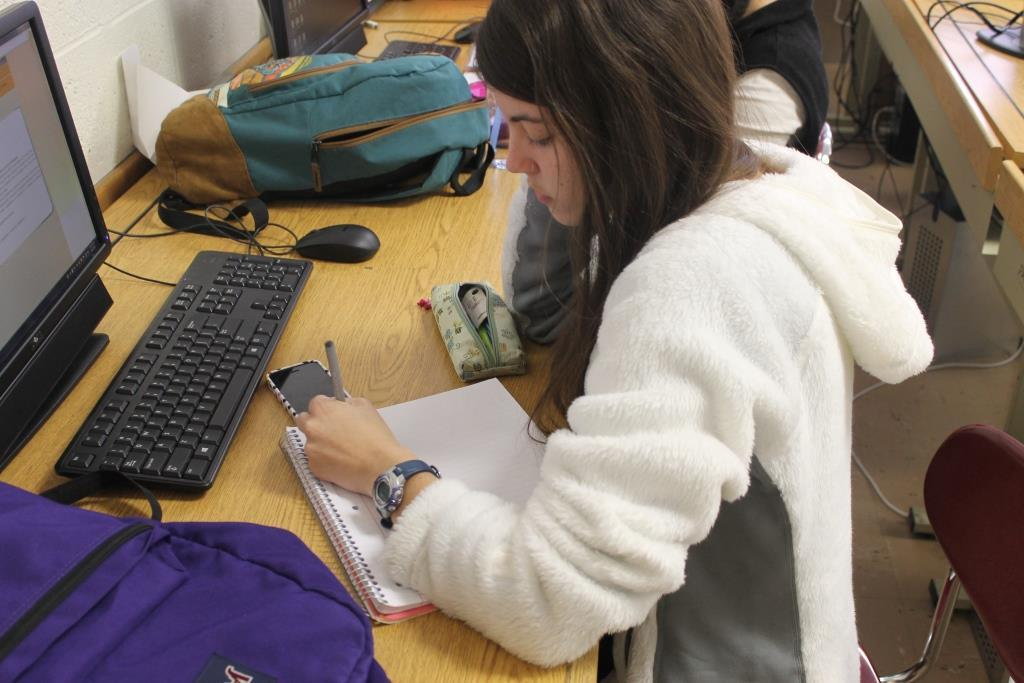 Notebooks aren't user-friendly for the left-handed students of Glen Rock High School.