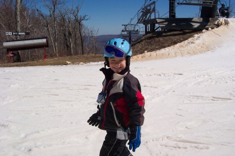 Perhaps Christopher was never so in his element as when he was skiing, loving every moment he spent with his family on the slopes.