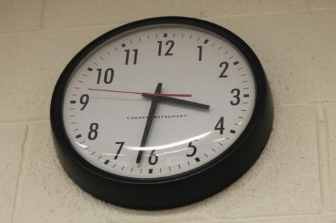 Clocks across the school serve as the new bells.