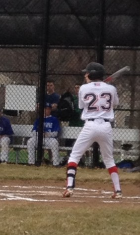 Up to bat for the Panthers, sophomore Max Felsenstein will drive in an RBI for the Panthers. (Photo Credit: Juliana Roddy)