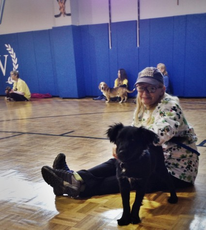 Animals and volunteers connect at this Paws in Hand event.