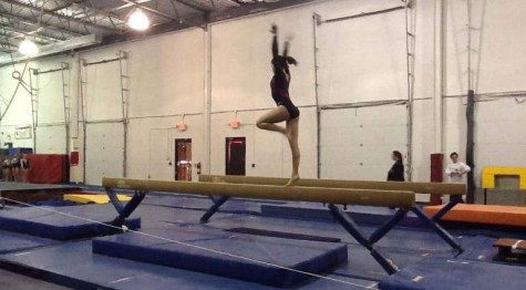Struble faces her nerves on top of the beam.