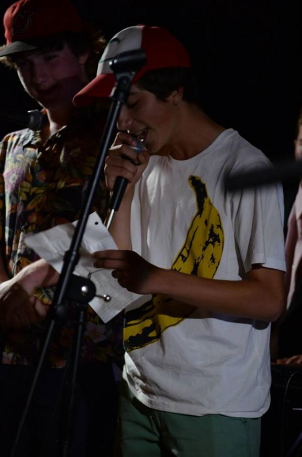 Members of Bad Susan performing (Dan McAuley, left and Marino Aldaz, right).