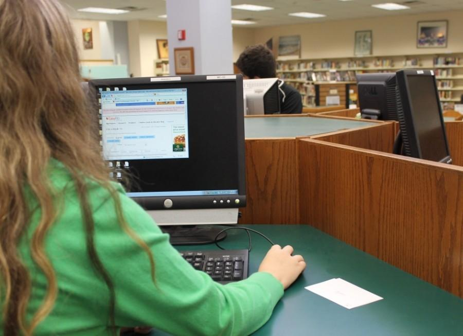 Students spend a lot of time at the media center working on school assignments.