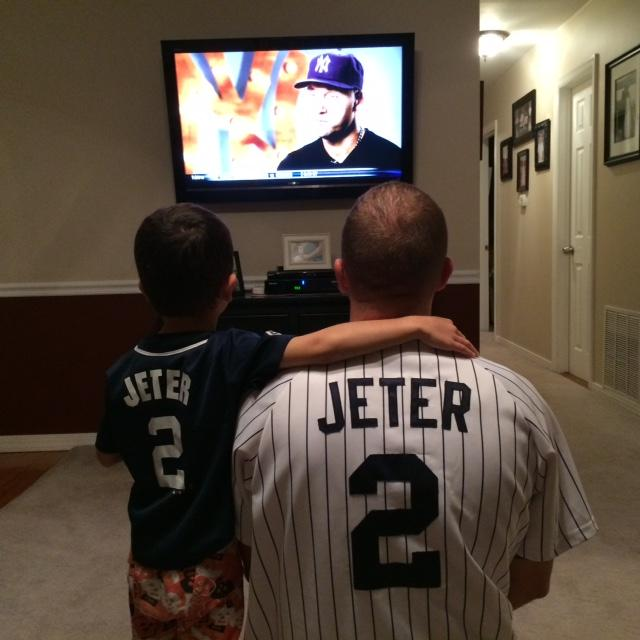 Fox and his son Brendan admire Jeter and all of his accomplishments. Brendan is now also a big fan.