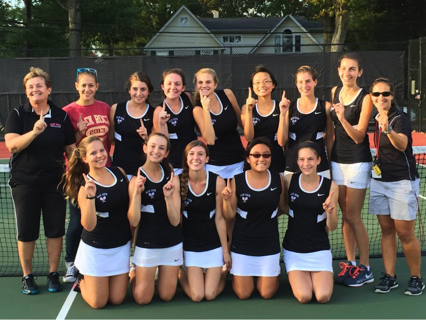 The+Glen+Rock+High+School+Girls+Tennis+team+hasn%27t+made+it+this+far+in+the+State+Sectional+tournament+in+14+years.+