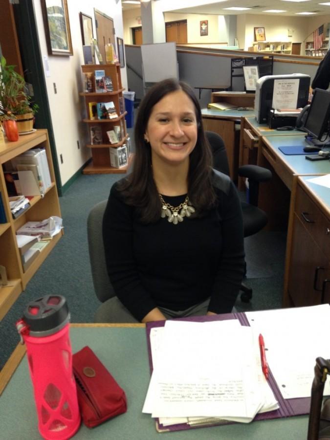 Along with doing school work, GRHS English teacher Jill Astoreca enjoys listening to music.
