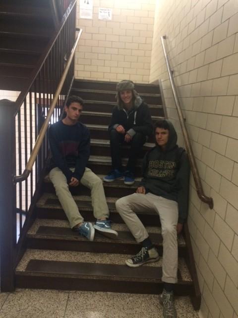 Pastels is a screamo band comprised of Justin McCollum (left), Adam Donatuccio (center), and Mike Zilvetti (right)