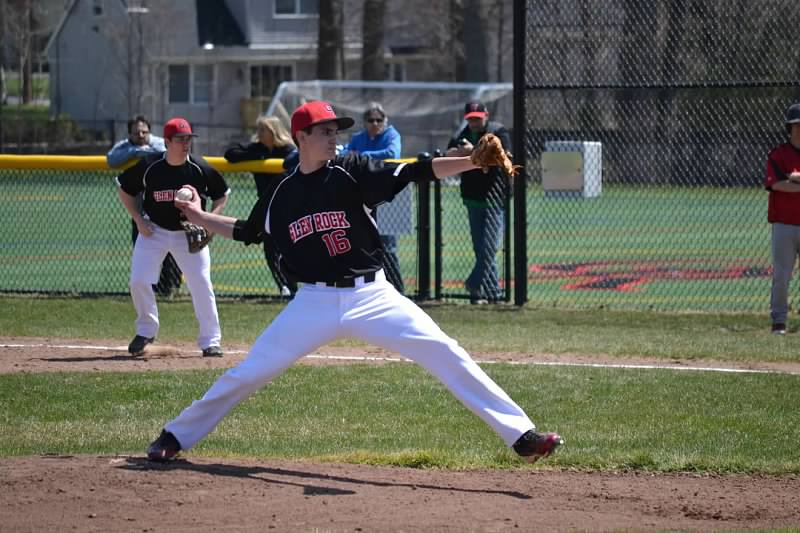 Junior right-hander, Zach Waller during his 6 innings of work against Westwood, in which Glen Rock went on to win, 8-3.