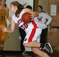 Constantly driving to the hoop, Kelly Lohr was one of the lead scorers last year.