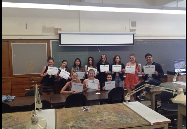 Mancuso and fellow fashion students, including Nathanson.