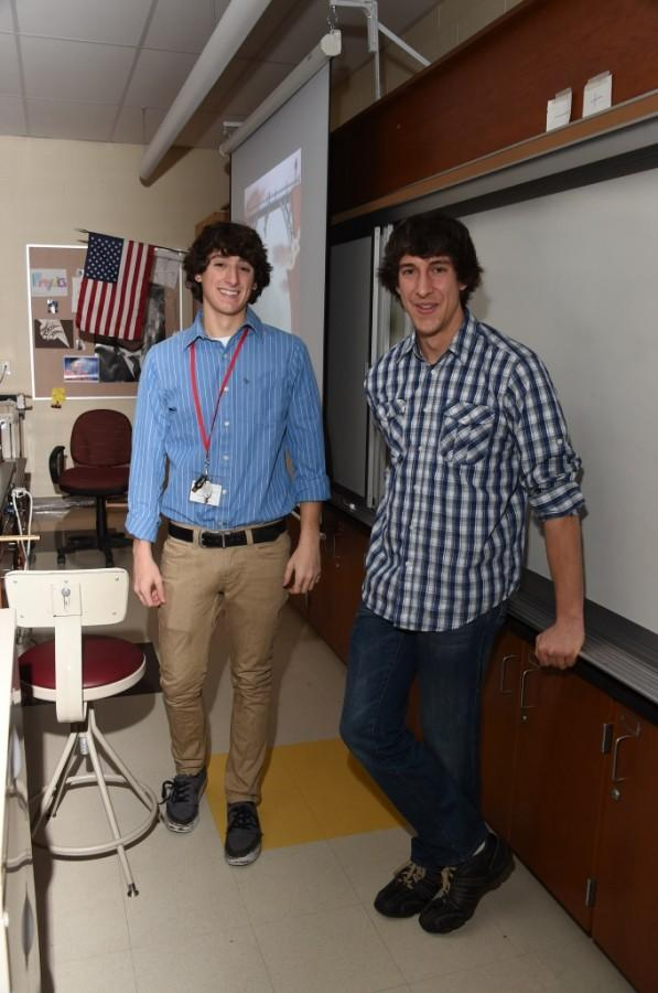 Mr. Luckenbill with Andrew Farfalla, a senior.