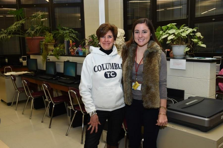 Mrs. Cella with Kate Mackie, a senior.