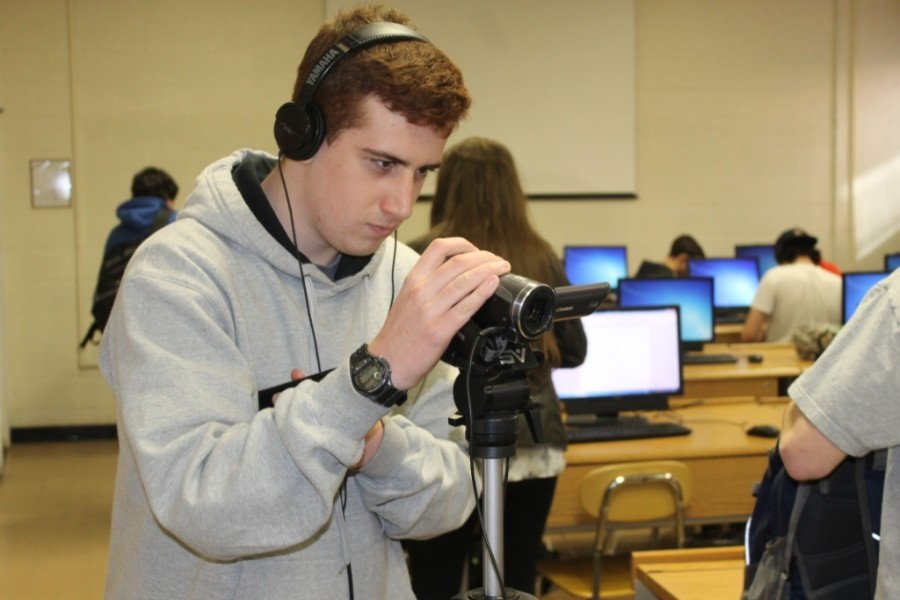 Media Editor Josh Stein and his recording equipment