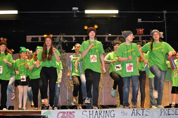 Sharing the Arts at GRHS spends its time preparing for the performance that usually occurs late April..