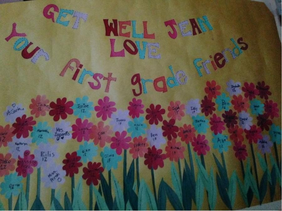 When Jean was hospitalized with LCH her first grade classmates made her a 'Get-Well' poster which she still keeps in her room to this day.