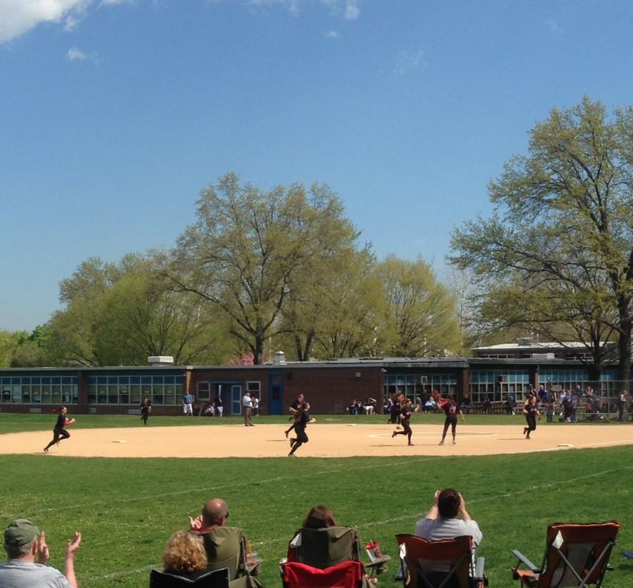 The Varsity softball team defeated Lyndhurst 3-1 on Saturday, May 2, 2015.