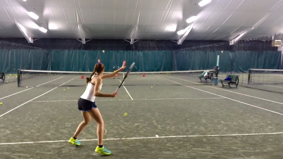 Over the course of each week, Mircea and her coach  focus on her playing form. This is important because she needs to consistently be able to stand correctly when hitting so she could make shots at the best possible angles.