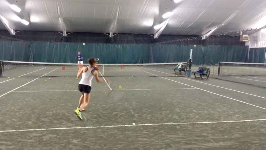Running is  one of the most important aspects in playing tennis. When practicing, Mircea coach purposely hits shorter shots and air shots so she could practice running for the ball.