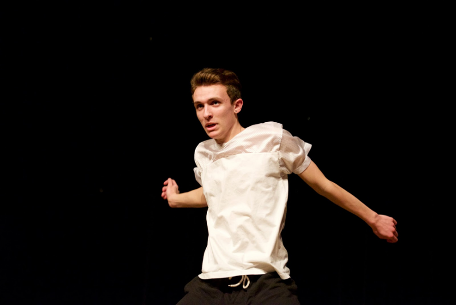 Jordan McMahon displays energy and intensity during a performance at the 2015 Christopher Barron Live Life Foundation Fundraiser.