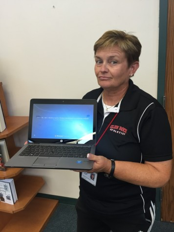 The new laptops have made it easier for Physical Education teachers to record their attendance in the gymnasium, according to Mrs. Bonnie Zimmermann.