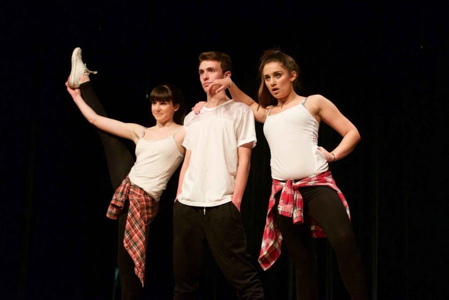 Jordan, along with Sarah and Bella, performing at last year's annual Christopher Barron Dance Fundraiser.