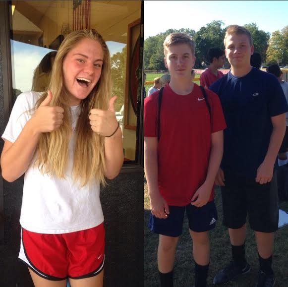 Haleigh, Jack, and Nick Martin on their way to soccer practice.
