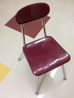 Regular school chair.