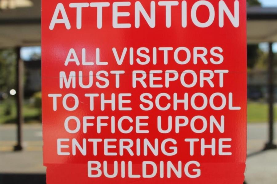 Security has become stricter this past year, forcing all visitors to go to the main office before being allowed in the school