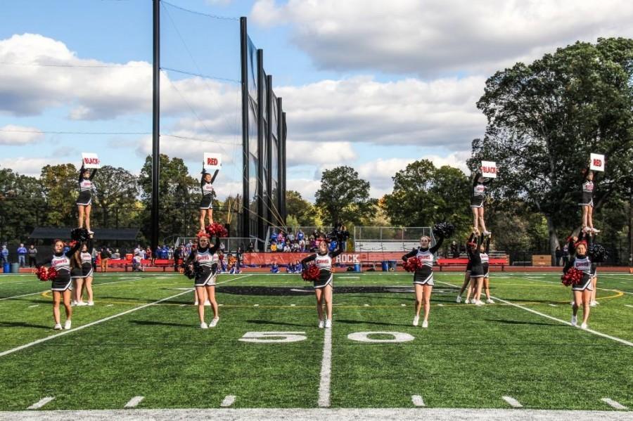 Glen Rock Cheerleaders preform their halftime dance.